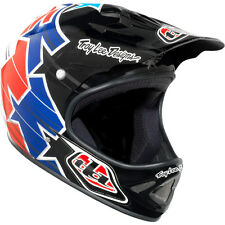 Troy Lee Designs TLD D2 Cycling MTB Superstar Red White Blue Gloss Helmet M / L