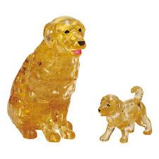 "Crystal puzzle 3D puzzle ""Retriever & Puppy"" 44 pieces Beverly 50261 Japan"
