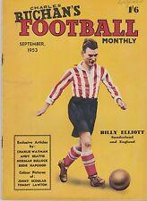 CHARLES BUCHAN'S FOOTBALL MONTHLY SEPTEMBER 1953 ~ ARSENAL/ LUTON / HUDDERSFIELD