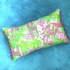 New throw pillow made with LILLY PULITZER Pink On Parade fabric