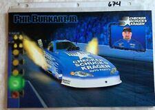 Phil Burkart JR Signed NHRA Checker Kragen Photo Foldout N 674
