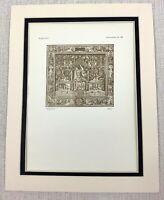1927 Antico Stampa 12 Mesi Di The Anno Tessuta Arazzo Dutch Fiammingo Art Ltd Ed