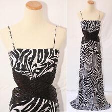 Masquerade Black White $150 Evening Prom Formal Cruise Sleeveless Dress size 5