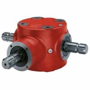 Winkelgetriebe 2050 1:1  3x1 3/8 6 Zahn Zapfwellenanschluß Winkel Getriebe