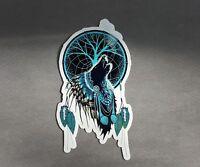 """6.5"""" x 3.5"""" Spirit Wolf Vinyl Decal Sticker"""