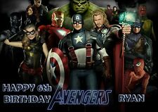 LEGO MARVEL AVENGERS A4 (XXL) PERSONALISED Birthday Card Any Name & Age Freepost