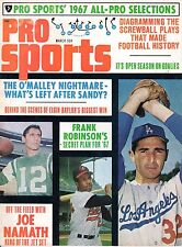 1967 (Mar.) Pro Sports Baseball Magazine, Sandy Koufax, Dodgers, Frank Robinson
