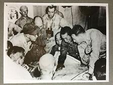 ww2 photo press staff of US Admiral W. Halsey, Japanese navy officer  1945  117