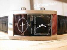 alte Sammler Dualtime Automatic Herrenuhr 2 Automatik-Werke #234 schwarz Bj.2004