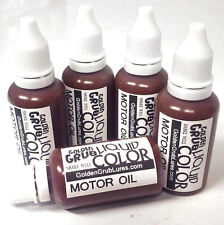 NEW 1 OZ. MOTOR OIL Liquid Color Dye Fishing Soft Bait Lure Making plastisol