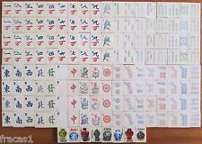 Vtg 1920s German Marke Pehafra 152 Casein Tiles, Mahjong Tile Set Only Mah Jongg