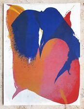 Paul Jenkins (1923-2012) Mourlot Originale Litografia 1964: composition