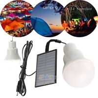 Portable Solar Power LED Bulb Lamp Outdoor Lighting Camp Tent Fishing Light USA