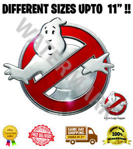 Ghostbusters Logo Badge Wafer Icing Cake Topper