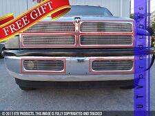 GTG 1994 - 2002 Dodge Ram 1500 2500 3500 6PC Polished Overlay Billet Grille Kit