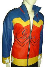Classyak Wonder Woman Real Leather Jacket Red, High Quality Lambskin, Xs-5xl