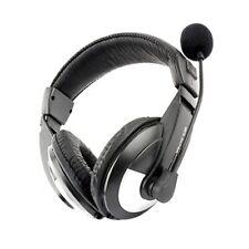 3.5mm Multimedia Computer PC Laptop Headphone Headset with Mic Black