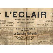L'ÉCLAIR 4-11-1915 Citation VALLERAUGUE Daniel CAMPREDON St MAXIMIN Raoul VERT