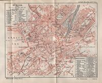 1903 ANTIQUE MAP- SWITZERLAND-TOWN PLAN-ZURICH