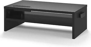 Supporto per Monitor Smartphone Tablet in Legno da Scrivania con gestione cavi