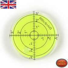 66mm PMMA Spirit Bubble Level Degree Marked Surface Round Circular Measuring Kit