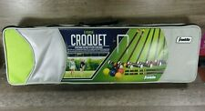 FRANKLIN 6-PLAYER WOOD ADULT CROQUET SET IN CARRYING CASE!