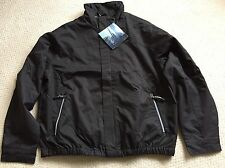 North End Men's Micro Twill Bomber Jacket Black Size Large L/G NWT