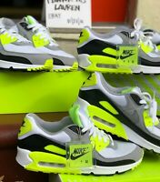 Nike Air Max 90 Volt MENS SIZE 10 White Gray Black CD0881-103 NEW IN BOX 95 97 1