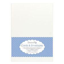 "10x White 5""x7"" Quality Grade Kraft Card Blanks + Envelopes (Dovecraft)"