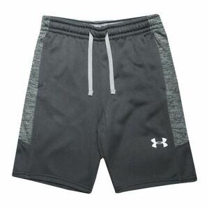 Boy's Under Armour Junior Armour Fleece Elastic Waist Shorts in Grey