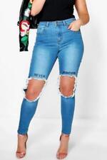 Damen-Jeans aus Denim mit Stickerei Hosengröße 42