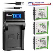Kastar Battery LCD Charger for Fujifilm NP-50 Fuji NP-50A Kodak KLIC-7004 K7004