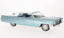 1963 CADILLAC Sedan de Ville Turquoise Metallic by BoS Models LE 504 1/18 Scale.