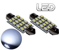 2 Ampoules navette Habitacle plafonnier C10W 41 mm 41mm 16 LED  Blanc éclairage