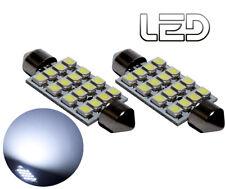 2 Ampoules navette Habitacle plafonnier C10W 41 mm 41mm 16 LED SMD Blanc