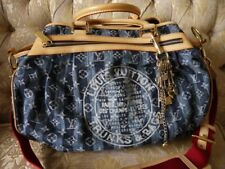 AUTH MINT LOUIS VUITTON CRUISE PORTE EPAULE RAYE BAG MONOGRAM DENIM M95334