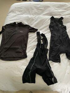 Triathlon DHB suit womens + Cycling bib shorts & cycling top Decathlon Small