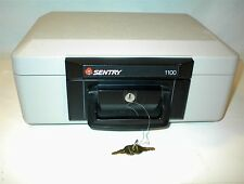 SENTRY 1100 SAFE LOCK BOX 2 KEYS HOME SECURITY FIRE RESISTANT