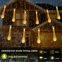 30 LED Waterproof Outdoor Solar Powered String Light Garden Path Yard Decor Lamp