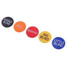 5x Multicolor Plastic Casino Card Games Dealer Button for Club Entertainment