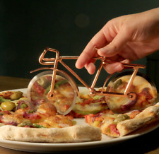 Shared Earth Brass Bicycle Shaped Copper Pizza Cutter