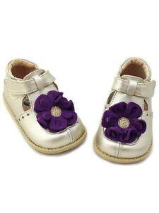 NIB LIVIE & LUCA Shoes Blossom Gold Purple Flower toddler 6 HTF!