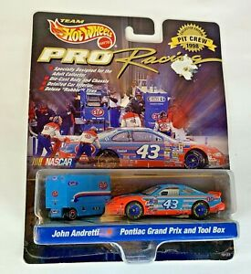 John Andretti Nascar Hot Wheels Pit Crew Tool Cart and Car 33 Pro Racing 1998