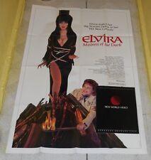 original ELVIRA MISTRESS OF THE DARK poster & New World Video brochure lot