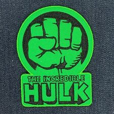 THE INCREDIBLE HULK FIST LOGO IRON ON EMBROIDERED PATCH FREE SHIPPING