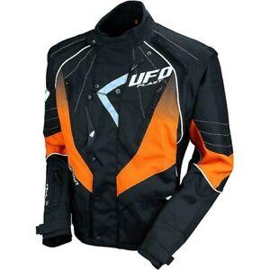 Giacca Moto Cross Enduro Quad Motard Ufo Plast Jacket Nero Arancio (XL)