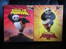 Kung Fu Panda 1 +2 Blu-Ray Embossed Steelbook Full Slip [Blufans] Exclusive Open