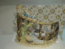 Blue Sky ClayWorks Baby Jesus Nativity Tea Lite Holder Figurine New in Box