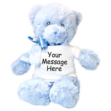 "Personalized Stuffed Animal - 12"" Aurora Blue Teddy Bear"
