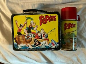 Lunch Box Vintage Popeye & Thermos 1964